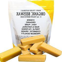 100% Organic Hand Poured Beeswax- 8 x 1 oz Bars Premium Qual