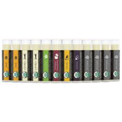 Beauty by Earth Organic Lip Balm Set; 12 Pack of Long Lastin