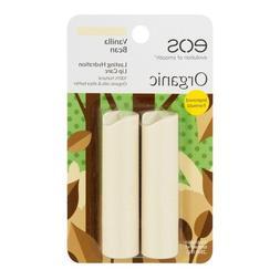 eos Organic Lip Balm Stick, Vanilla Bean, 0.14 oz, 2 pack  N