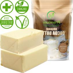 Organic Pure Raw Cocoa Butter - 16 oz Unrefined Natural Vega