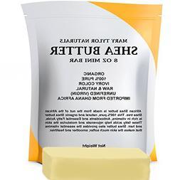 Organic Shea Butter 8 oz, Premium Grade Raw Shea Butter, Unr