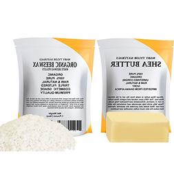 Mary Tylor Naturals White Beeswax Pellets 1 lb + Shea Butter