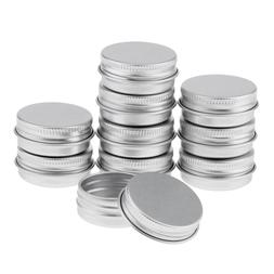 Pack of 10Pcs 15ml Silver Aluminum Round <font><b>Lip</b></f
