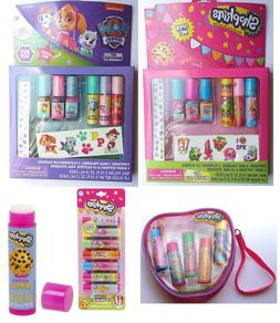 Shopkins Paw Patrol Lip Balm Gloss Nail Polish Tattoos Stick