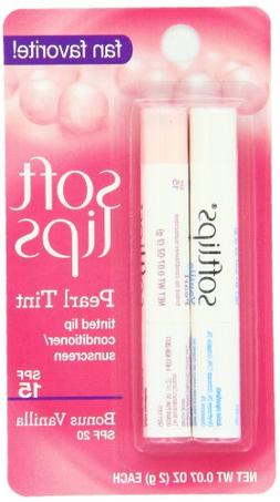 Softlips Pearl Tint and Bonus Lip Remedies, Vanilla, 0.07 Ou