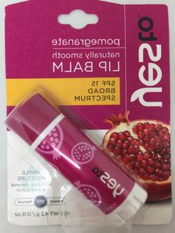 Yes To Pomegranate Naturally Smooth Lip Balm SPF 15 broad sp