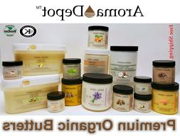 Premium Organic Butters 100% Pure RAW Fresh Natural Cold Pre