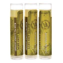 Out of Africa Pure Shea Butter Lip Balm 3 Pack - Tropical Va