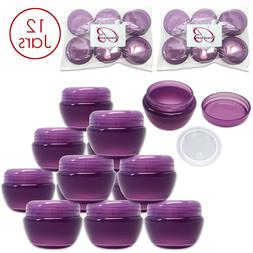 Beauticom 12 Pieces 50G/50ML PURPLE Color Frosted Container