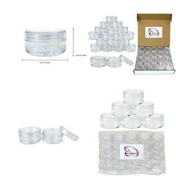 Beauticom 10G/10Ml Clear Lid Plastic Cosmetic Lip Balm Li