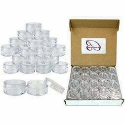 Quantity: 100 Pieces Beauticom 10G/10ML Clear Lid Plastic Co
