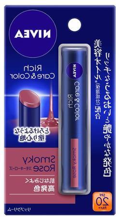 Nivea Rich care & color Lip Balm Smokey Rose Japan import NE