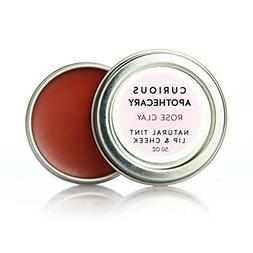 Curious Apothecary Rose Clay vegan natural cheek and lip tin