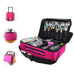 "Relavel Makeup Bags Travel Large Makeup Case 16.5"" Professio"