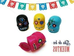 Sugar Skulls Halloween Party Bag Lip Balm 4 pack Day of the