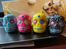 SUGAR SKULLS LIP BALM 4 FLAVORS  4 COLORS DAY OF THE DEAD NW