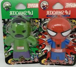 Lip Smackers The Hulk & Spiderman Lip balm Lot of 2 Marvel C