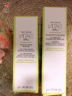 Mary Kay Satin Lips Shea Butter Balm & Shea Sugar Scrub Set.