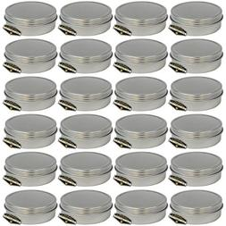 24 Pack of Mighty Gadget  Screw Top Round Steel Tin Cans
