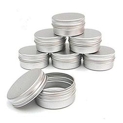 CTKcom Screw Top Round Steel Tins,1-Ounce, For Lip Balm, Cra