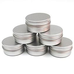 CTKcom Screw Top Round Steel Tins,Aluminum Tin Jars,4-Ounce