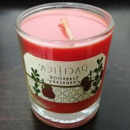 PACIFICA Seabrook Cranberry Glass Candle Votive 3 oz. Limite
