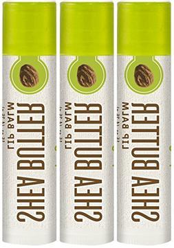 Piping Rock Shea Butter Lip Balm 3 Pack 3 Tubes x 0.15 oz