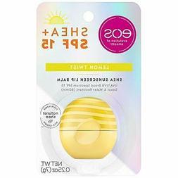 eos Shea + SPF Sphere Lip Balm - Lemon Twist | SPF 15 and Wa