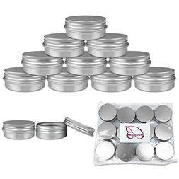 Beauticom Aluminum Silver Tin Metal Storage Containers with