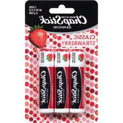 ChapStick Skin Protectant Lip Balm, Classic Strawberry, 0.15