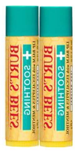 Burt's Bees - Lip Balm Soothing Eucalyptus & Menthol - 2 x .