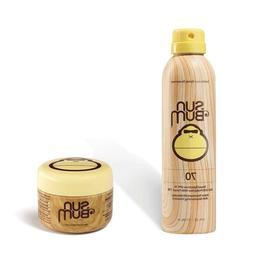 Sun Bum SPF 70 Spray Sunscreen + Clear Zinc Oxide Combo - 42