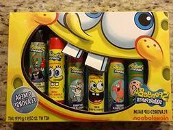 Spongebob Squarepants Flavored Lip Balm 6 Mega Flavors