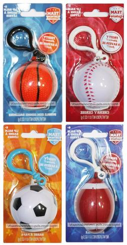 TOWNLEY Sports TEAM LIP BALM Flavored BALL SHAPED With Clip