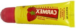 Carmex Strawberry Flavor Moisturizing Lip Balm Tube SPF 15,