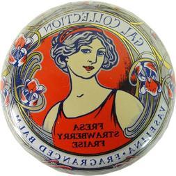 Strawberry Gal Spanish Lip Balm in Gold Art Nouveau Tin