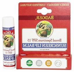 Sunblock Lip Balm Water Resistant 15 SPF 0.15 oz.