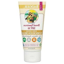 Badger - SPF 30 Active Mineral Sunscreen Cream for Face and