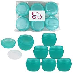 Beauticom 12 Pieces 50G/50ML TEAL Color Frosted Container Ja