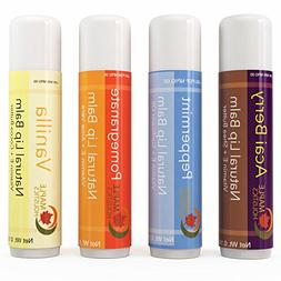 Natural Therapeutic Lip Balm for Dry and Chapped Lips - Four