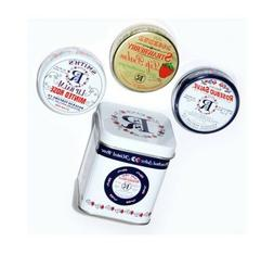 Rosebud Three Lavish Layers of Lip Balm Tin Trio Set New