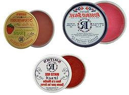 Rosebud Perfume Co. Tin 3 Pack: Smith's Strawberry Lip Balm