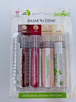 Sky Organics tinted lip balm 4 pack organic made in USA