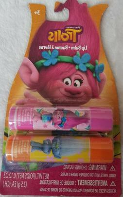 Trolls 2 pack of Lip balm, Berry & Strawberry flavors