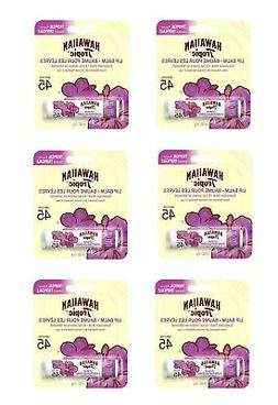 Hawaiian Tropic Tropical Lip Balm SPF 45+ Sunscreen Pack of
