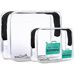 ProCase TSA Approved Clear Travel Toiletry Bag, Quart Size Z