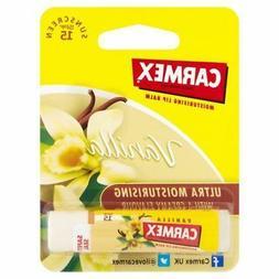 Carmex Ultra Moisturising Lip Balm Vanilla Stick SPF 15 4.25