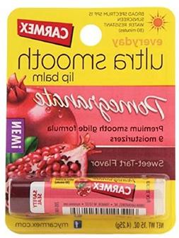 Carmex Ultra Smooth Lip Balm Stick SPF 15, Pomegranate 0.15