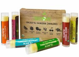 Sky Organics USDA Organic Lip Balm Beeswax Coconut Oil Vitam