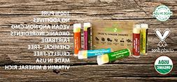 USDA Organic Lip Balm by Sky Organics 6 Pack Assorted Flavor
